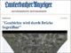 Artikel über die Unterstützung der Initiative zum Erhalt der Hartmannhainer Brücke durch die IG Bauernhaus im Lauterbacher Anzeiger